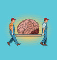 brain bear repair vector image