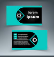 business card - paper infographic vector image