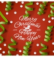 Christmas Party card with streamers and confetti vector image