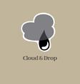 Cloud And drop Logo vector image