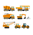 construction machine set vector image