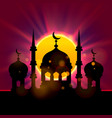 eid mubarak cover islamic beautiful vector image
