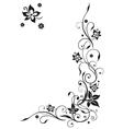 Filigree floral border vector image