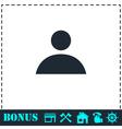 Human icon flat vector image
