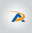 letter a loop logo vector image