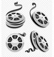 movie video film disks vector image