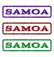 samoa watermark stamp vector image
