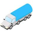 tank truck isometric vector image