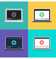 Web Template of Notebook Video Form vector image