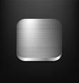 Metal App Icon vector image vector image