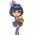 Trick Or Treat Goth Girl vector image