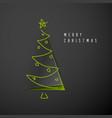 Minimalistic merry christmas card vector image
