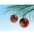 wintery christmas decoration vector image vector image