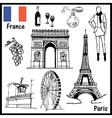 Paris France vector image