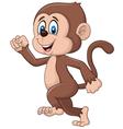 Cartoon funny monkey running isolated vector image