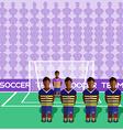 Ecuador Soccer Club Penalty on a Stadium vector image