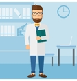 Doctor in medical office vector image