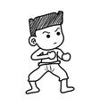 boy fighting vector image