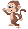 Cartoon funny monkey running isolated vector image