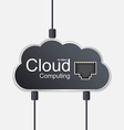Cloud computing concept Technology background vector image