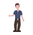 faceless man adult vector image