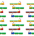 Train seamless pattern vector image