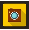 Photo camera icon flat style vector image