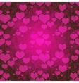 Valentine purple pattern vector image vector image