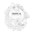 Topical Fruits And Plants Logo Hand Drawn vector image