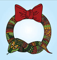 Cute snake wreath for Chinese New Year vector image vector image