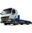Flatbed recovery vehicle vector image