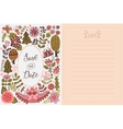 Save the date greeting card Forest theme vector image