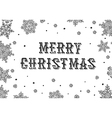 Merry Christmas Greeting Black and white vector image vector image