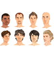 Male portraits vector