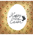 easter retro cute card with spring flowers vector image vector image