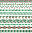 christmas border patterns vector image