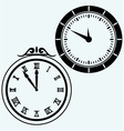 Set symbol clock vector image