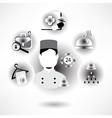 Basic - Hotel icons vector image