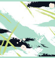 brush stroke paint in green navy colors vector image