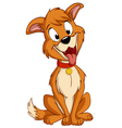 cartoon silly sitting dog vector image