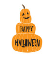 halloween pumpkin color vector image