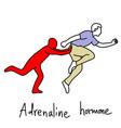 metaphor function of adrenaline hormone vector image