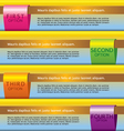 Set of Colorful Banners With Option Number vector image