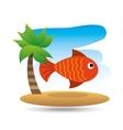 tropical vacation beach fish icon vector image