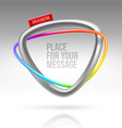 Abstract frame with tubular colorful element vector