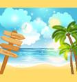 summer happy holiday landscape vector image