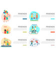best friends day forever web collection on white vector image