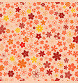 seamless pattern of small flowers vector image