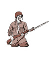 Soldier with Bayonet vector image
