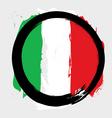 Italian circle flag vector image vector image
